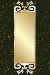 Atmosphere black gold pattern style Black Style Border Imagem Do Plano De Fundo