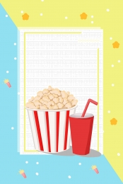 atmosphere fashion popcorn watching movies , Promotions, Leisure, Must-have Imagem de fundo