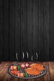 बारबेक्यू स्वादिष्ट बारबेक्यू जीभ की नोक पर भोजन , धूम्रपान, भोजन, काली पृष्ठभूमि पृष्ठभूमि छवि