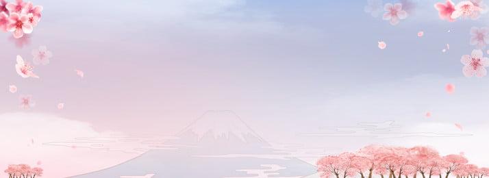 Beautiful Romantic Cherry Blossom Season Material Background, Beautiful, Romantic, Cherry Blossom Season, Background image