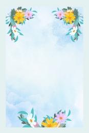 नीला ताजा गर्मियों में प्रचार पोस्टर , नीले, मौसम की निकासी का अंत, गर्मियों में पृष्ठभूमि छवि