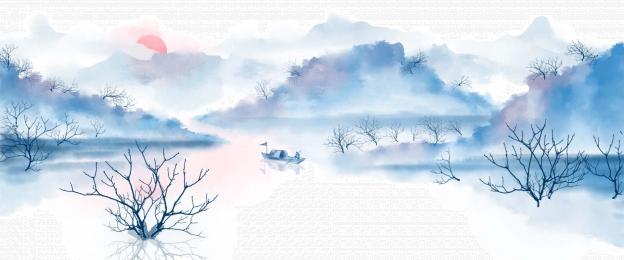 bước quét mộ lễ hội ming ming qingming, Màu, Vẽ Mực, Xanh hình nền