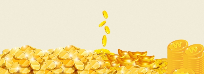business finance golden currency poster banner, Finance, Fund, Gold Coin Background image