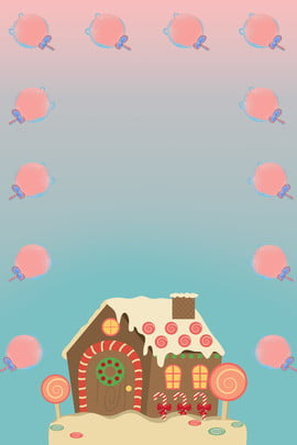 candy house promotional candy carnival poster , Carnival, Candy, Dessert Background image