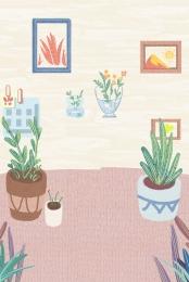 ソファ 花 草 , キャビネット, 家具, 草 背景画像
