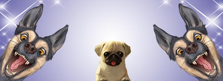 cartoon blue pet dog, Cartoon, Poster, Wind Imagem de fundo