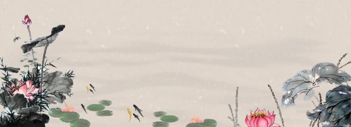 中国風 インク 古代風 風景バナー レトロ 風景 風景バナー 背景画像