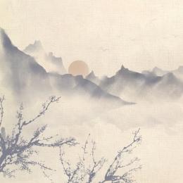 中国風 インク エレガント eコマース , 広告の背景, 淘宝網の背景, メインマップ 背景画像