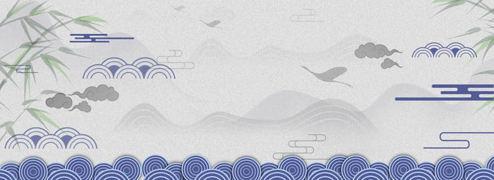レトロ 清王朝 Xiangyun レトロな青 Jingui レトロな青 中国風のレトロな手描きのバナー 背景画像