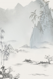chinese style landscape landscape painting spring , Wide, Traditional, Advertising Background ภาพพื้นหลัง