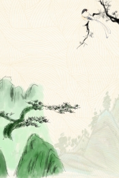chinese style landscape landscape painting spring , Traditional, Background, Advertising Background ภาพพื้นหลัง