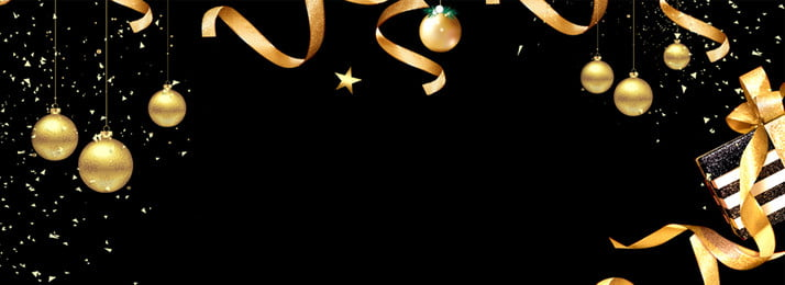 christmas black gold ribbon atmosphere, Banner, Fantasy, Banner Фоновый рисунок