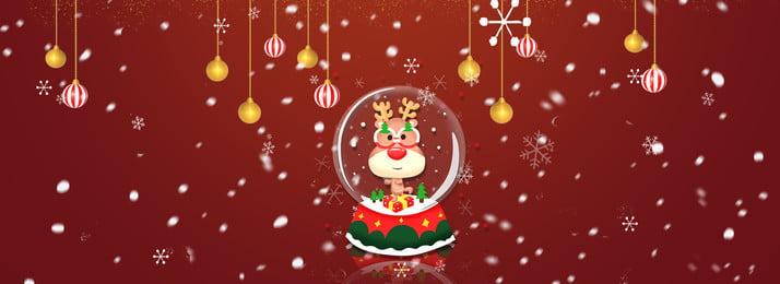 christmas red cartoon plane, Christmas, Banner, Cartoon ภาพพื้นหลัง