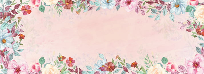 poster segar kecil iklan pakaian pakaian wanita iklan kosmetik cat air, Bunga Cat Air, Solek, Poster imej latar belakang