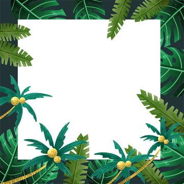 creative hand painted tropical plants psd layered leisure vacation , Hand Drawn Illustration, Tropical, Hand Imagem de fundo
