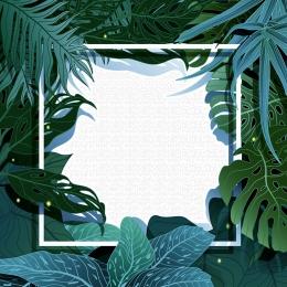 creative hand painted tropical rainforest tropical plants psd layered , Tropical, Plant, Rainforest Imagem de fundo