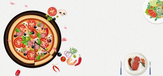 delicious western restaurant poster, Food, Pizza, Steak Background image