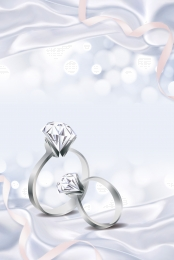 jewelry advertising diamond ring diamond ring jewelry , Background Poster, Wedding Ring, Psd Material Imagem de fundo