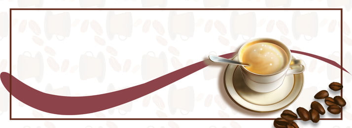 fragrant coffee afternoon tea banner, Fragrant Coffee, Flower, Art Background image