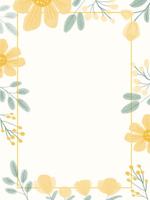 fresh and lovely nature wedding border yellow flowers small floral , Wedding, Warm, Hand Imagem de fundo