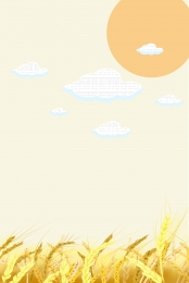 minimalism wheat golden wheat wheat field , Golden, Illustration, Wheat Illustration Imagem de fundo