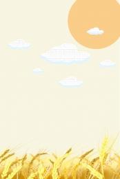 minimalism wheat golden wheat wheat field , Wheat, Drawn, Cloud Фоновый рисунок