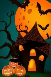 halloween carnival night creative poster , Carnival, Night, Hanging Flag Фоновый рисунок