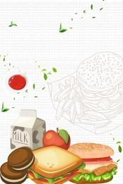 Hamburger food new recommendation poster , Western Restaurant, Hamburger, Hamburger Background image