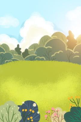sky hand drawn clouds blue sky , Hand Drawn, Meadow, Sky ภาพพื้นหลัง