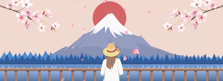जापान यात्रा यात्रा खेल, खेल, पोस्टर, फ़ूजी पृष्ठभूमि छवि