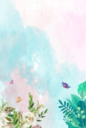light green hand painted spring new green background , Green, Spring, Green Background ภาพพื้นหลัง