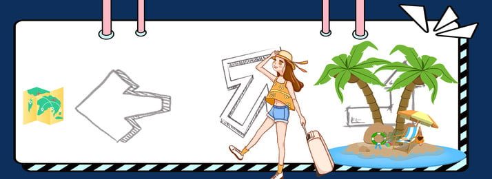 cô bé du lịch biểu ngữ minh họa nền, Biểu Ngữ, Girl, Lịch Ảnh nền
