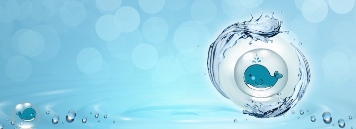 Little Whale In The Water Of The World Water Day, World Water Day, Water Droplets, Poster, Background image