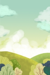 spring green blue sky landscape , Sunlight, Landscape, Green ภาพพื้นหลัง