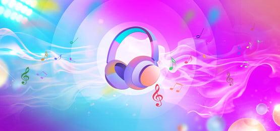 muzik alat dengar fon kepala merah, Minimalis, Dengar, Sastera imej latar belakang