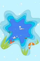 paper cut wind origami wind summer holiday , Paper, Seascape, Leisure Imagem de fundo