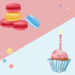 गुलाबी नीला सरल ताजा भोजन , भोजन, केक, गुलाबी पृष्ठभूमि छवि