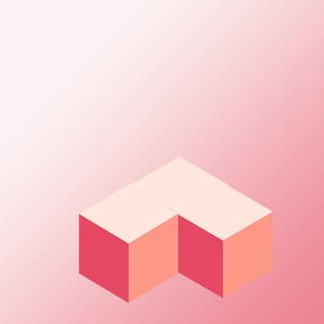 粉色 簡約 促銷背景 扁平 , 簡約, 粉紅色方塊扁平背景, 扁平 背景圖片