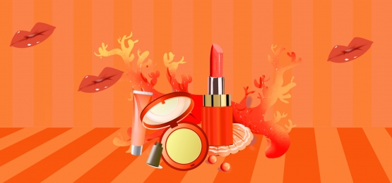 Red High-end Cosmetics Poster Banner, Online Shop Poster, High-end Cosmetics Poster, Skin Care Poster, Background image