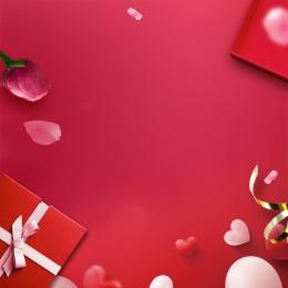 赤い花びら バラ 赤いギフトボックス 化粧品 , スキンケア製品, バラ, 赤い花びらローズギフトボックス化粧品psd層状メイン画像 背景画像
