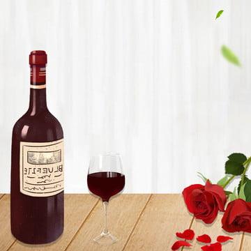 簡約 時尚 浪漫 玫瑰 , 簡約時尚浪漫玫瑰紅酒廣告, 燭光晚餐, 紅酒 背景圖片