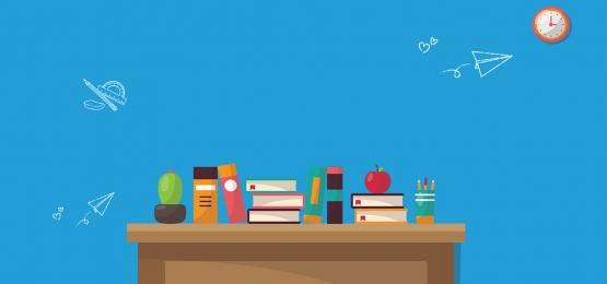 simple atmosphere cartoon desk banner, Simplicity, Atmosphere, Cartoon Background image