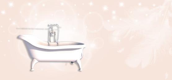 Simple bathroom bathtub comfortable banner, Bathroom, Luxury, Luxury Bathroom Background image