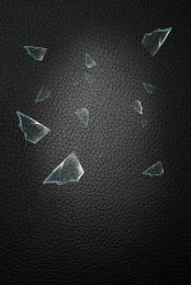 simple black broken glass , Simple, Black, Broken Background image