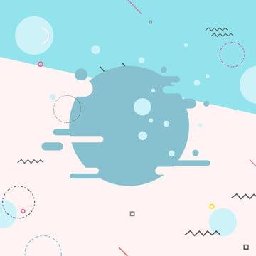 Simple flat geometric bubble underwater world advertising background , Underwater World, Underwater Paradise, Parent-child Swim Background image