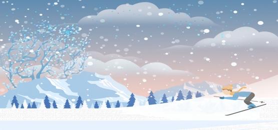 winter winter promotion discount, Winter, Offer, Spanduk imej latar belakang
