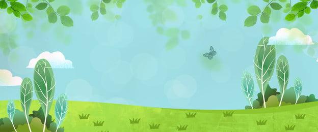 簡約 小清新 春天 綠色, 春季, 簡約, 春天 背景圖片