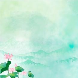 春 小さな新鮮な蓮 シンプルな 手描きの , 小さな新鮮な蓮, 春新しい, 水彩画 背景画像