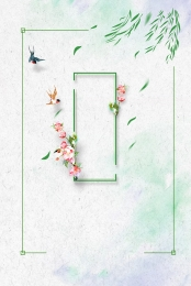 spring spring tour clear green , Simple, Swallow, Green ภาพพื้นหลัง
