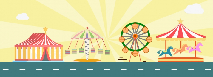park happy amusement park poster amusement park advertising, Kota Hiburan, Taman, Happy Amusement Park imej latar belakang